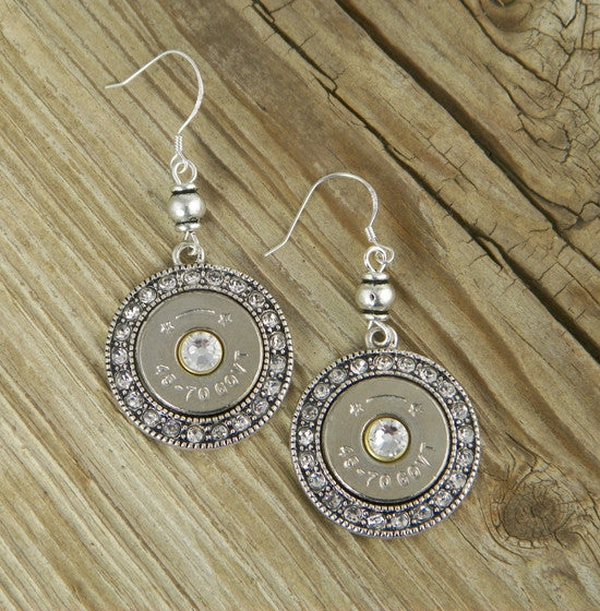 Fire & Ice 45-70 Bullet Earrings