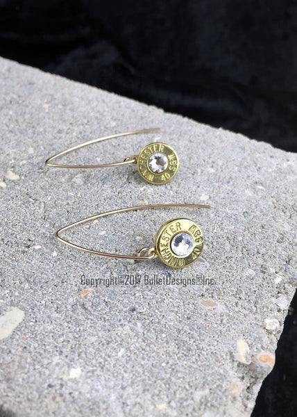 14K Gold Filled Marquis Drop Bullet Earrings