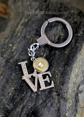 LOVE Bullet Custom Keychain, 7mm-08, 22-250, 280, 45 Auto, 308, 30-06, 243, 270