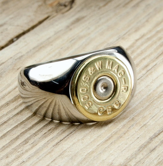 Stainless Steel Bullet Ring for Men