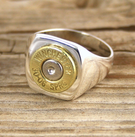 Bullet Ring Sterling Silver Men S Bullet Jewelry Bullet