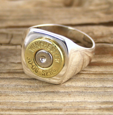 Bullet Ring Sterling Silver Men's  Bullet Jewelry