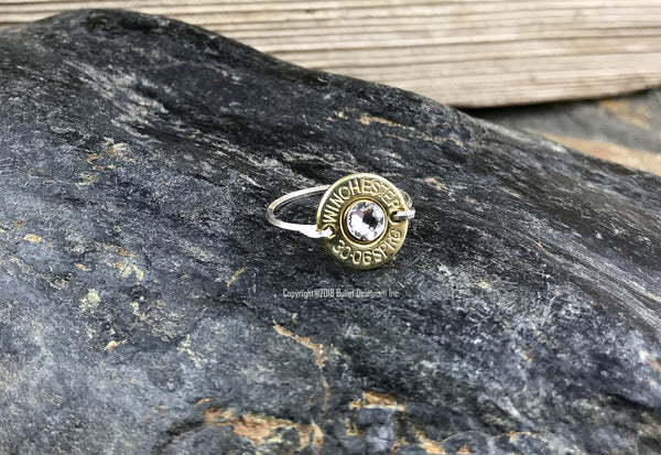 Sterling Silver Wire Bullet Ring