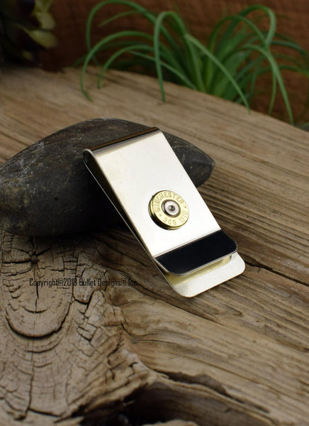 308 Brass Bullet Money Clip