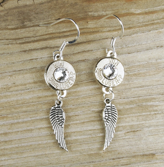Nickel Bullet Wing Earrings