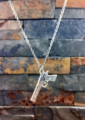 Semi Auto Gun Necklace
