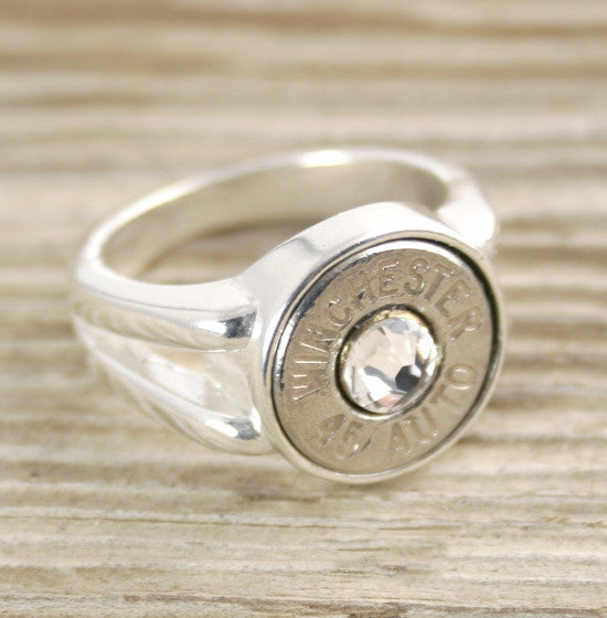 Custom Bullet Ring Side Split Sterling  Bullet Jewelry