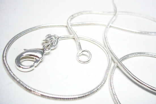 Silver Plated Snake Chain 1mm