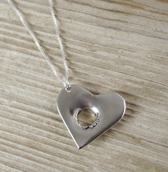 Shot Through the Heart Sterling Silver Necklace