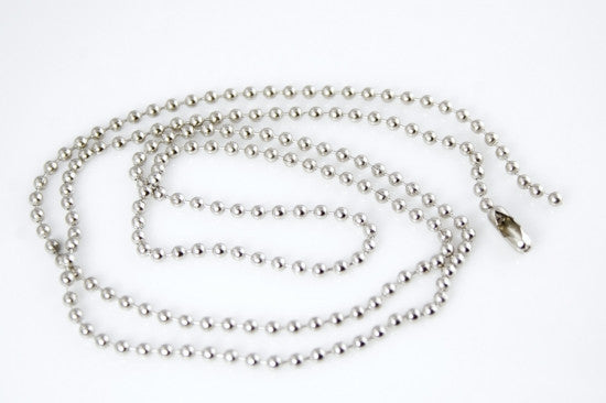Silver Tone Ball Chain, 2mm