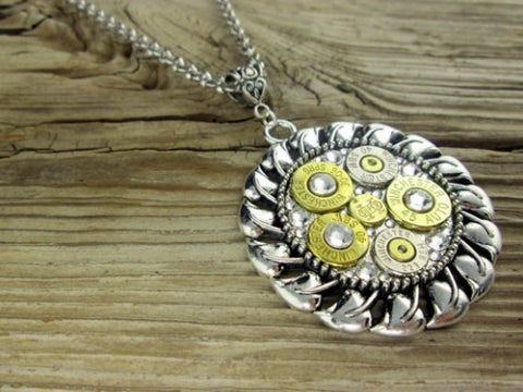 Six Shooter Bullet Necklace