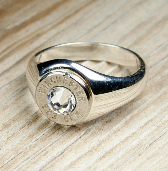 Bullet Ring Solid .925 Sterling Silver Bullet Jewelry