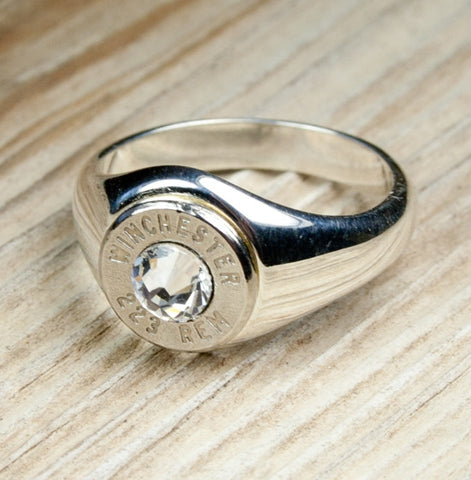 Bullet Ring Solid .925 Sterling Silver