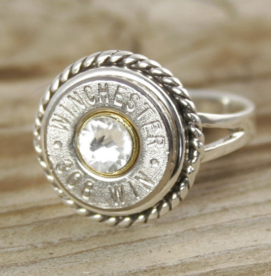 Bullet Ring Sterling Silver Custom Rope  Bullet Jewelry