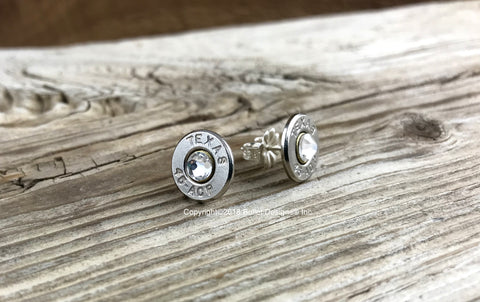 Texas 45 ACP Bullet Head Stud Earrings