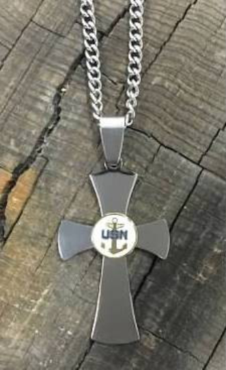 US Navy Stainless Steel Cross Necklace