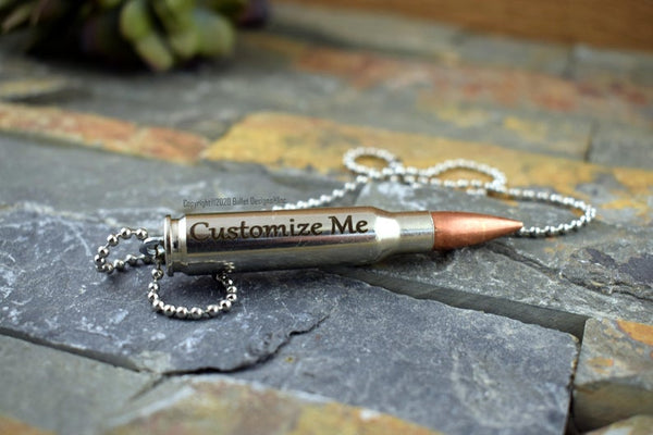 Custom Engraved 308 Urn Bullet Necklace, DIY, Personalized Memorial Keychain Ash Holder