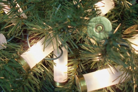 White Shotgun Shell Christmas Tree Lights