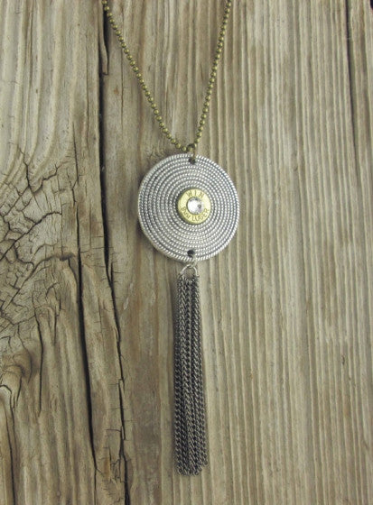 9mm Mixed Metal Bullet Necklace