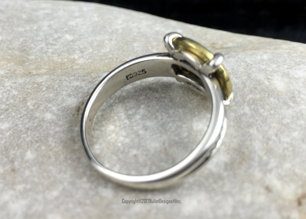 Antique Sterling Silver Rope Band Bullet Ring