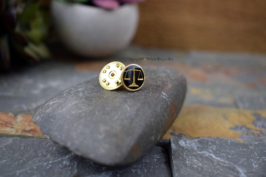 Scales of Justice Tie Tac
