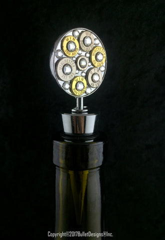Bullet & Crystal Wine Bottle Stopper