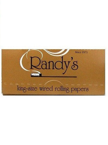 Randys Wired King Size Gold Cigarette Rolling Paper