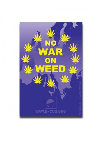 Zip Bag 'No War On Weed' 100 pack 40mm x 60mm