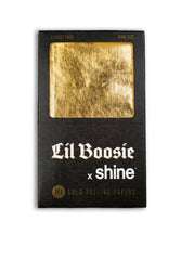 Shine x Lil Boosie 24K Gold King Size Papers 2 Pack