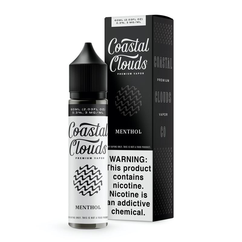 Coastal Clouds Menthol Ejuice 60ml 0mg