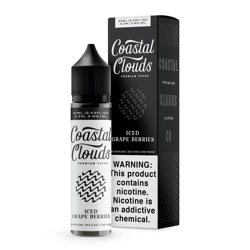 Coastal Clouds Iced Grape Berries E-Liquid 60ml (0mg)