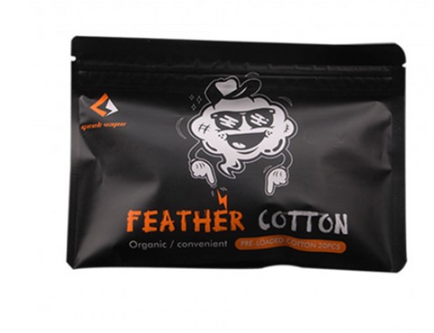Geekvape Squares of Feather Organic Cotton 20pcs