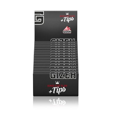Gizeh Extra Fine King Size Slim Papers with Integrated Tips