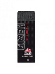 Gizeh Black King Size Slim Filtertips Tips perforated