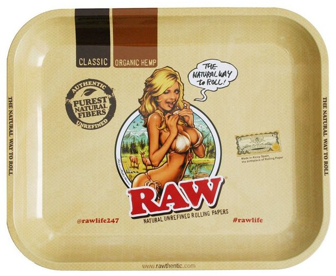 RAW Rolling Tray Medium RAW Girl 34x27.5cm