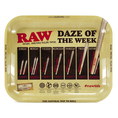 RAW Rolling Tray Daze of the Week Large