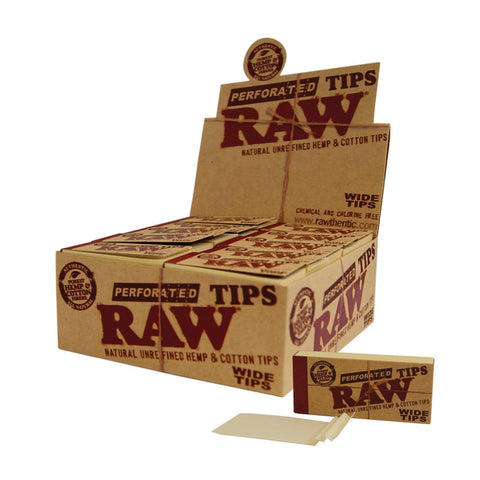 RAW Wide Tips King Size Perforated
