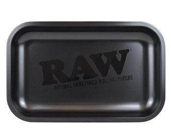 RAW Rolling Tray Metal Small Matte Black 27.5x17.5cm