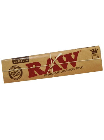 RAW King Size Slim Unbleached Papers