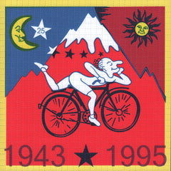 Framed Albert Hofmann Bike Ride 1943 Red 19cm x 19cm Blotter Art