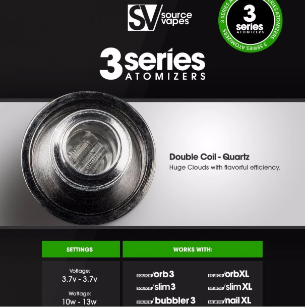 Source 3 Series V2 Atomizers 5 pack