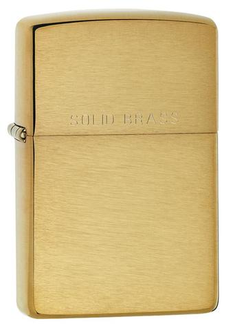 Zippo Classic Brushed Solid Brass