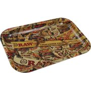 RAW Rolling Tray Metal Small RAW Mix Design