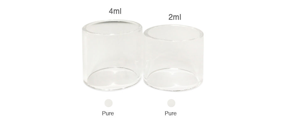 SMOK TFV8 X-Baby Replacement Glass Tube 4ml 3pc