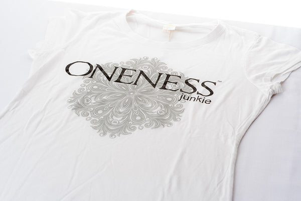 White Oneness Junkie | Female Slim Cut - Bamboo T-shirt