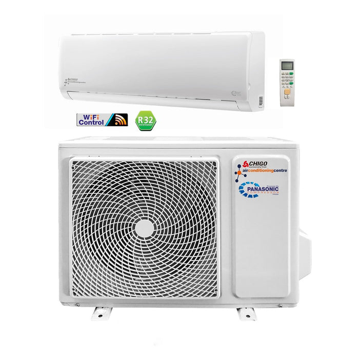 White Wifi Control Split Air Conditioning Unit