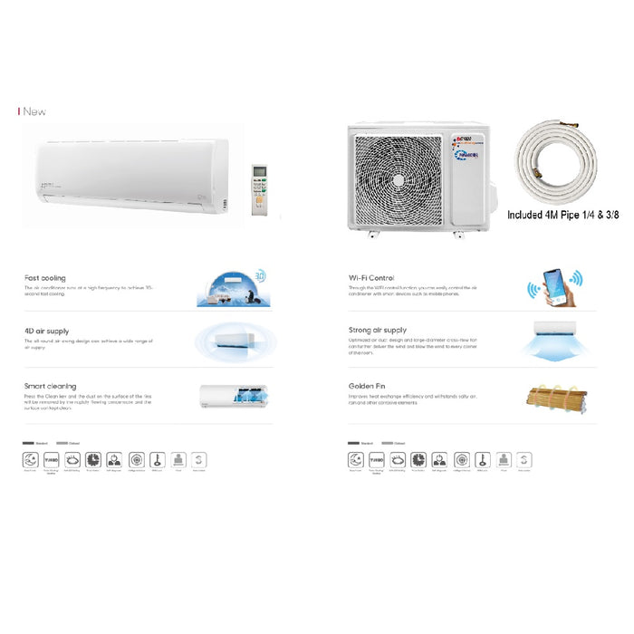 Remote Control Split Wall Air Con Unit