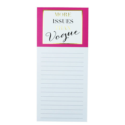 Magnetic Notepad-Vogue