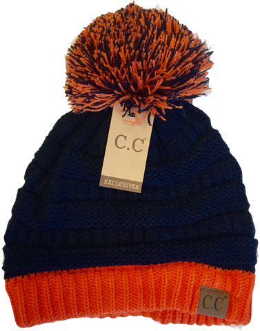 Auburn/Clemson Orange and Blue Beanie