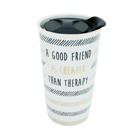 Ceramic Travel Tumbler A Good Friend